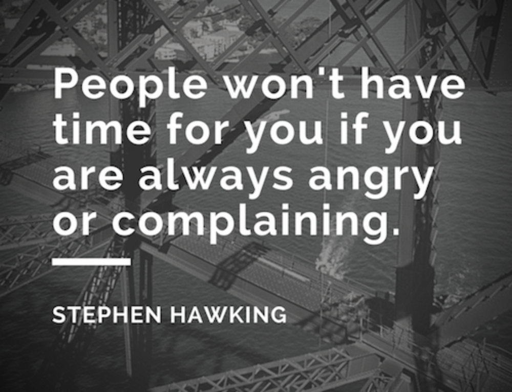 The next time you feel like complaining …