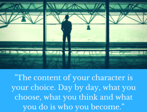 Character = Choices, Thoughts and Actions